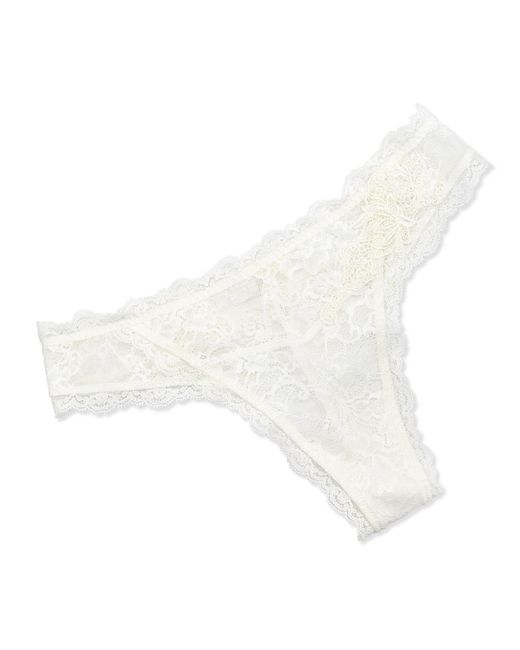Lise Charmel - White Love Magicienne Lace Thong Dentelle Nacre - Lyst