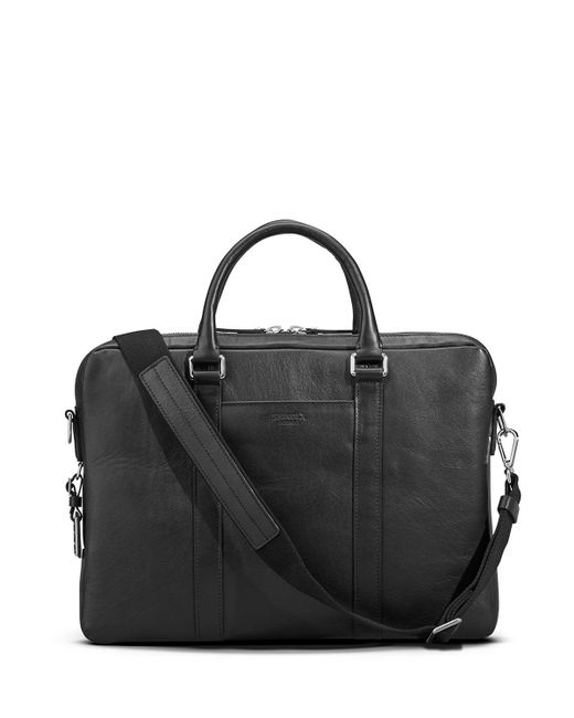 Shinola - Black Men's Slim Leather Computer Briefcase for Men - Lyst