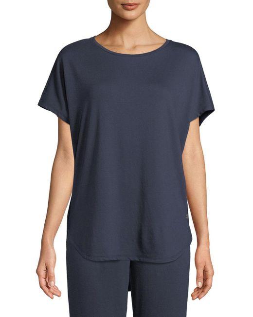 Natori - Blue Zen Short-sleeve Caftan Top - Lyst
