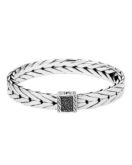 John Hardy - Metallic Men's Modern Chain Bracelet With Black Sapphire for Men - Lyst