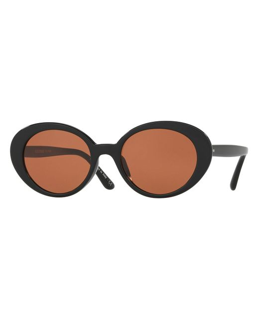 Oliver Peoples - Black Parquet Monochromatic Oval Sunglasses - Lyst