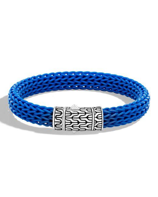 John Hardy - Blue Men's Classic Chain Rubber Push-clasp Bracelet for Men - Lyst