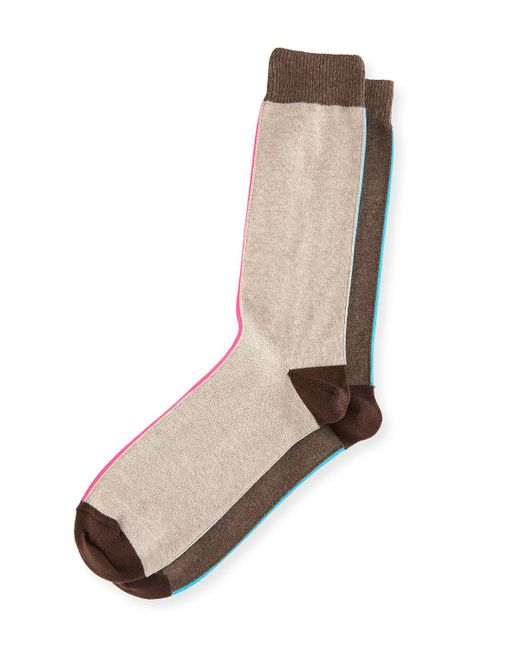 Paul Smith   Gray Striped Colorblock Socks for Men   Lyst