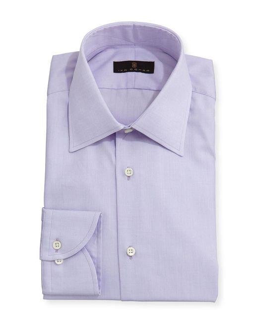 Ike Behar - Purple Gold Label Micro-herringbone Dress Shirt for Men - Lyst