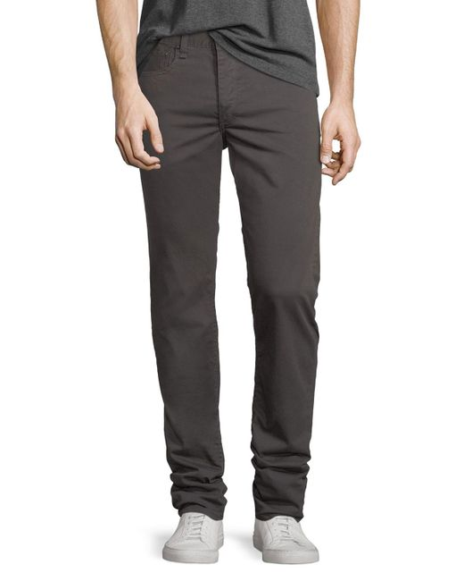 Rag & Bone | Gray Standard Issue Fit 2 Mid-rise Relaxed Slim-fit Pants for Men | Lyst