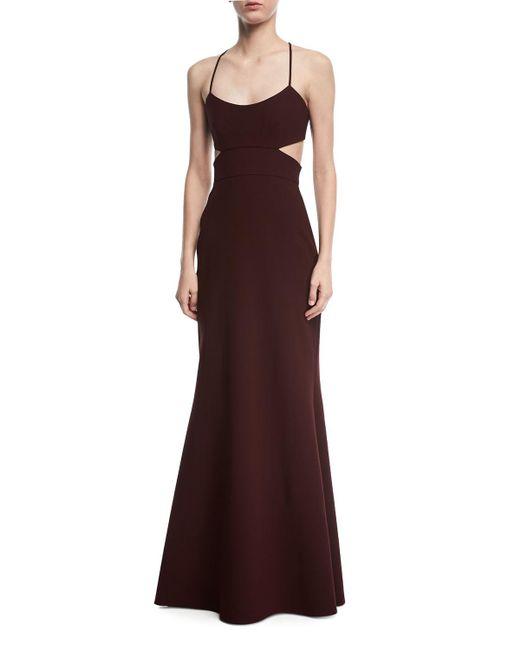 JILL Jill Stuart - Black Sleeveless Cutout Crepe Gown - Lyst