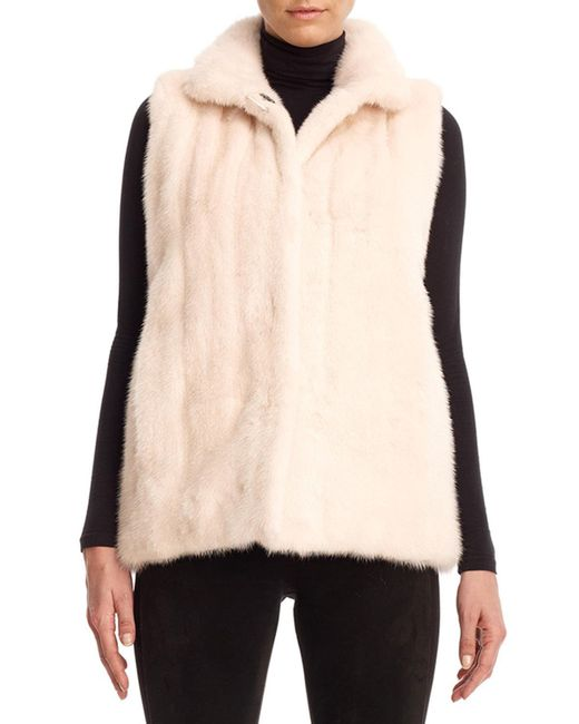 Gorski | Brown Reversible Mink Fur Down Vest | Lyst