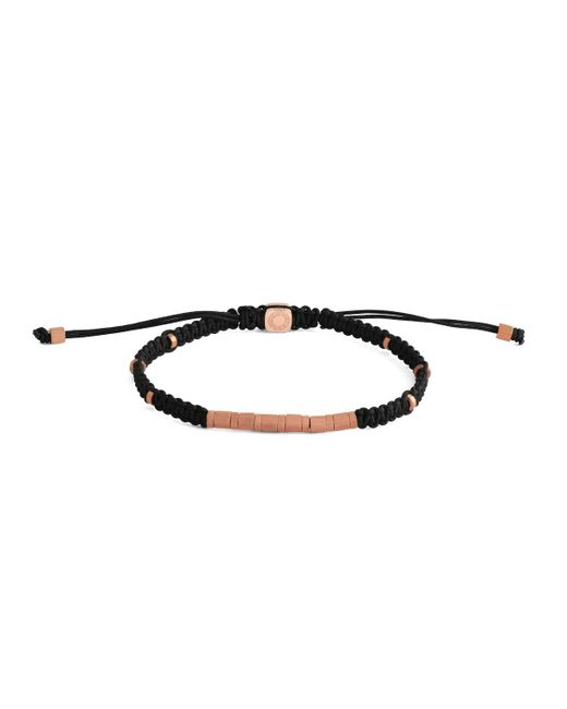 Tateossian - Black Men's Braided Rose Gold-plated Bracelet for Men - Lyst