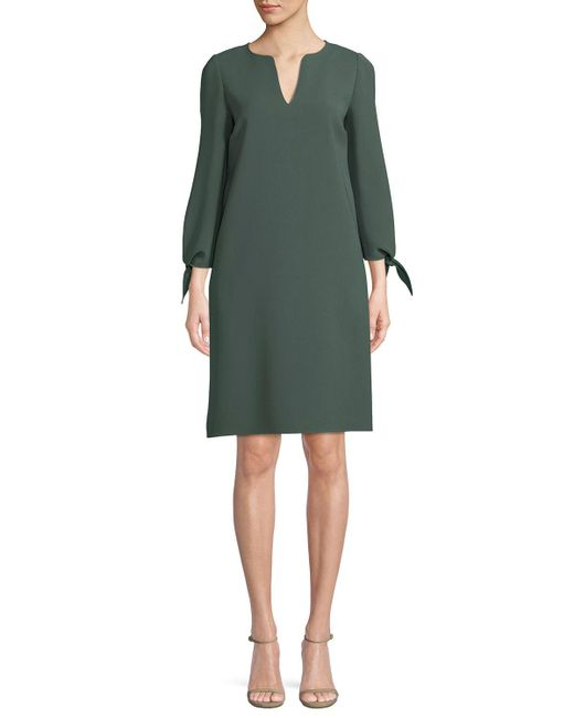 Lafayette 148 New York - Black Khloe Finesse Crepe Shift Dress - Lyst