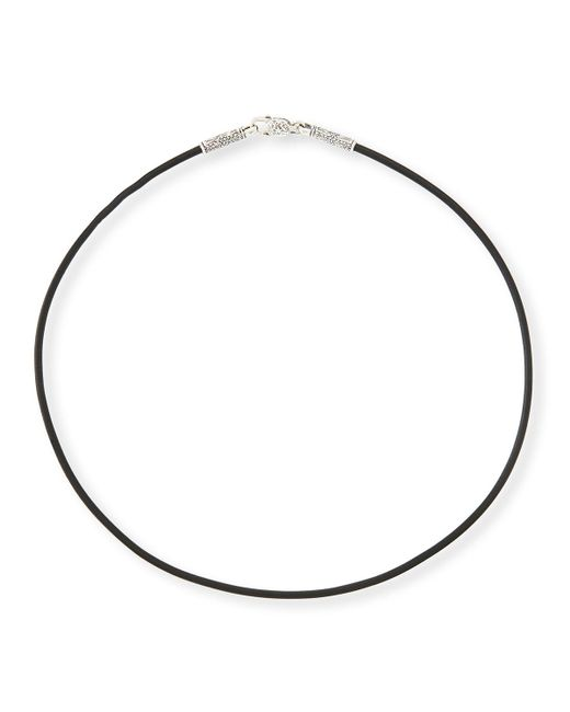 "Konstantino - Black 20"" Men's Leather Cord Necklace for Men - Lyst"