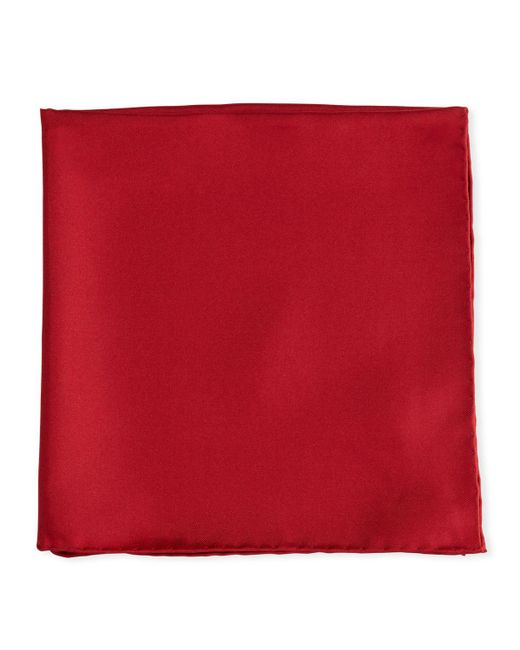 Psycho Bunny - Red Solid Silk Twill Pocket Square Cranberry for Men - Lyst
