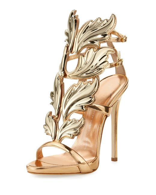 ebdb15c29a25 Giuseppe Zanotti - Multicolor Coline Wings Suede 110mm Sandals - Lyst