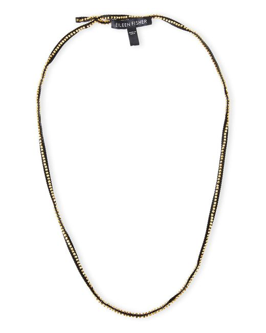Eileen Fisher | Multicolor Ribbons Beaded Necklace | Lyst