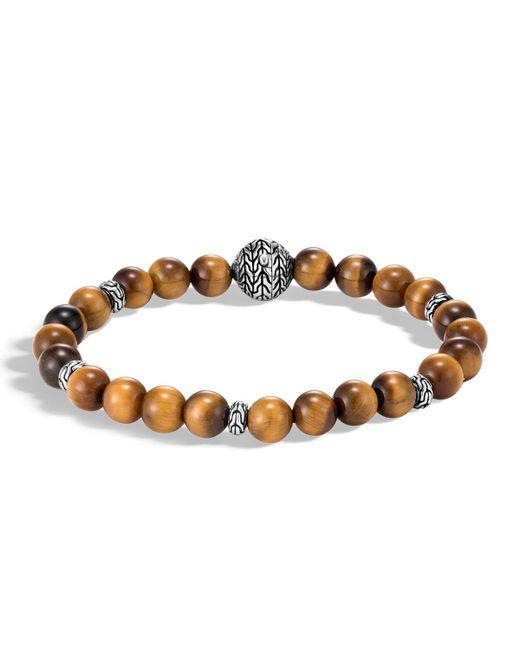 John Hardy - Metallic Men's Classic Chain Bead Bracelet W/ Tiger's Eye for Men - Lyst