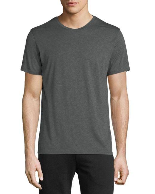Theory - Gray Claey Silk-blend T-shirt for Men - Lyst