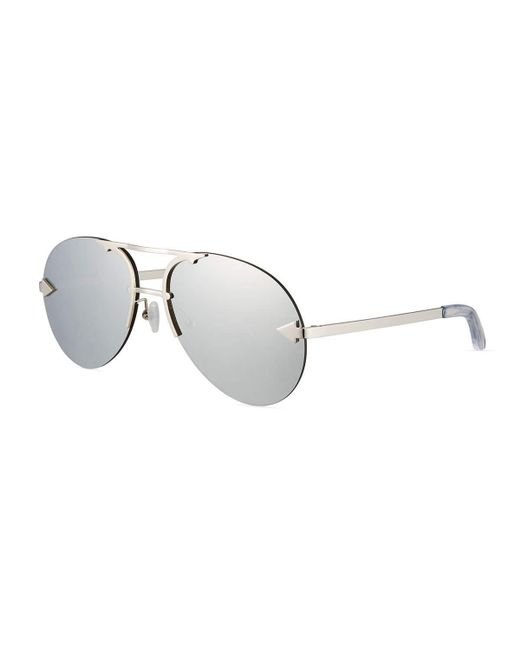 Karen Walker | Gray Love Hangover Semi-rimless Aviator Sunglasses | Lyst