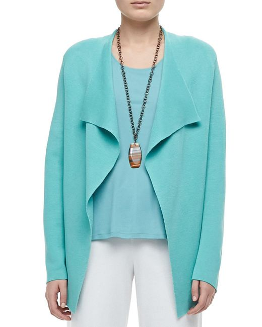 Eileen Fisher | Silk-cotton Interlock Jacket | Lyst
