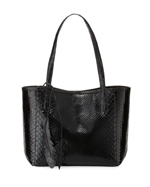 Nancy Gonzalez - Black Erica Small New Python Leaf Tote Bag - Lyst