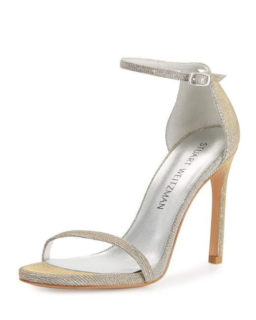 Stuart Weitzman - Multicolor Nudistsong Shimmery Ankle-wrap Sandals - Lyst