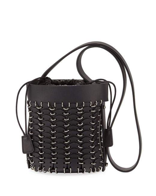 Paco Rabanne | Black 1401 Chain-link Mini Bucket Bag | Lyst