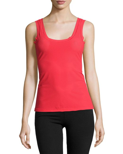 Commando - Red Active Perforated Tank - Lyst