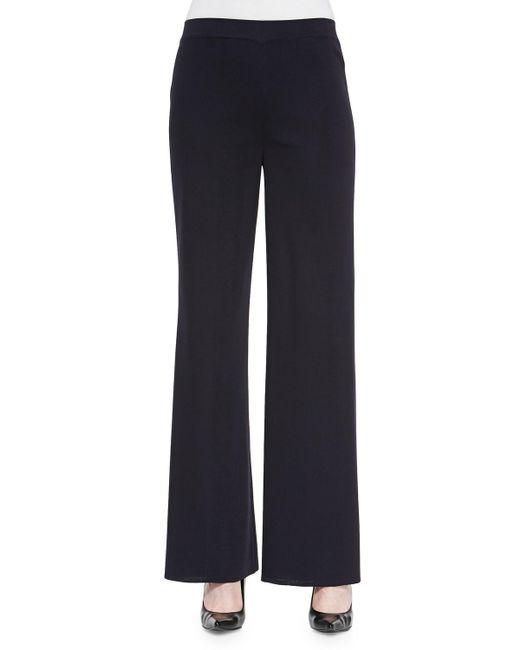 Misook - Blue Washable Wide-leg Pants - Lyst