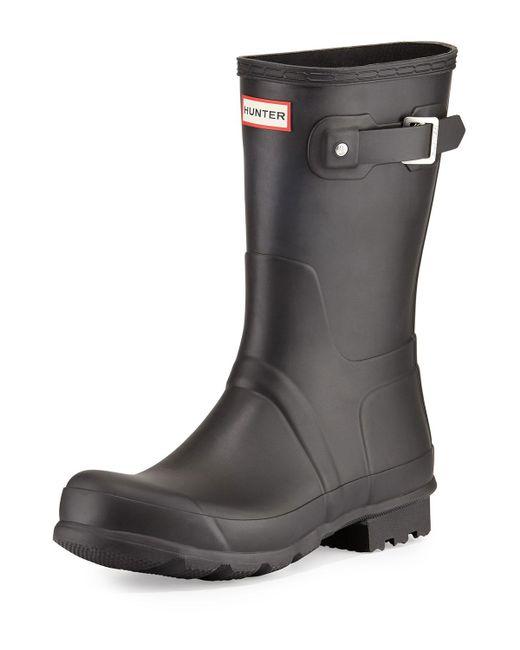 Hunter - Black Original Short Boots for Men - Lyst