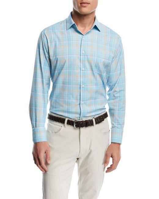 Peter Millar - Blue Wallace Performance Plaid Shirt for Men - Lyst