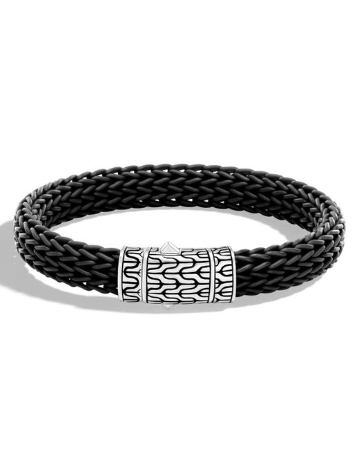 John Hardy - Black Men's Classic Chain Rubber Push-clasp Bracelet for Men - Lyst