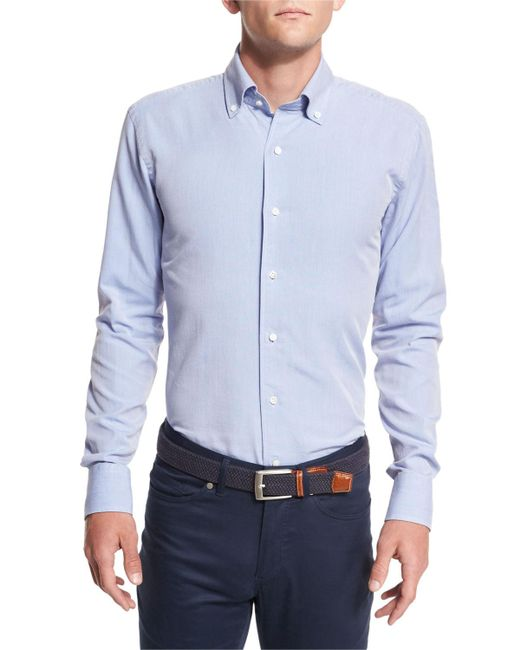 Peter Millar | Blue Collection Perfect Pinpoint Button-front Shirt for Men | Lyst