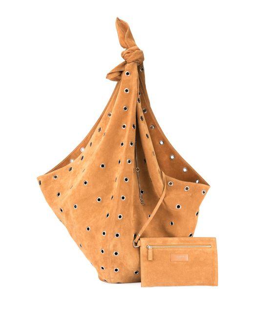 Saint Laurent - Natural Bandana Grommet Hobo Bag - Lyst