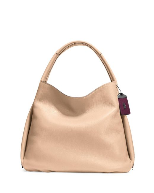 COACH - Brown Pebbled Leather Hobo Bag - Lyst