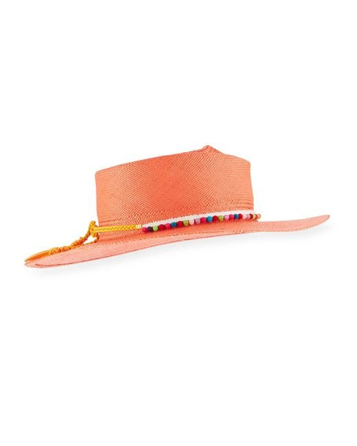 Gladys Tamez Millinery - Pink Camilla Panama Hat - Lyst