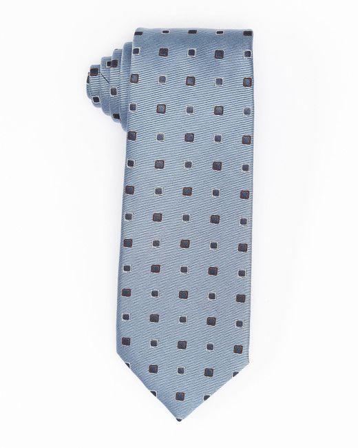 Isaia   Blue Diamond-box Silk-cotton Tie for Men   Lyst