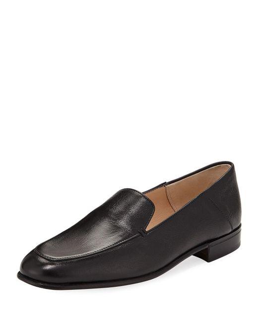 5746e697165 Lyst - Gravati Flat Leather Smoking Loafer in Black for Men
