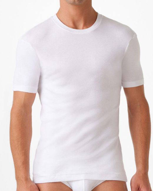 2xist - White Pima Crew Neck for Men - Lyst