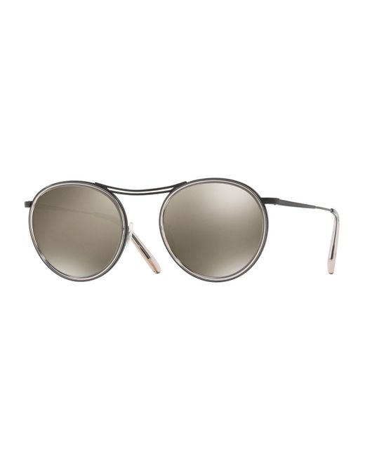 Oliver Peoples - Natural Mp-3 30th Anniversary Round Sunglasses - Lyst