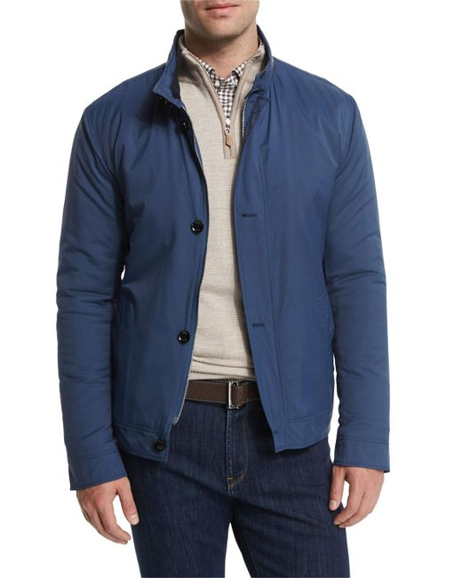 Peter Millar - Blue Mayfair Nylon Bomber Jacket for Men - Lyst