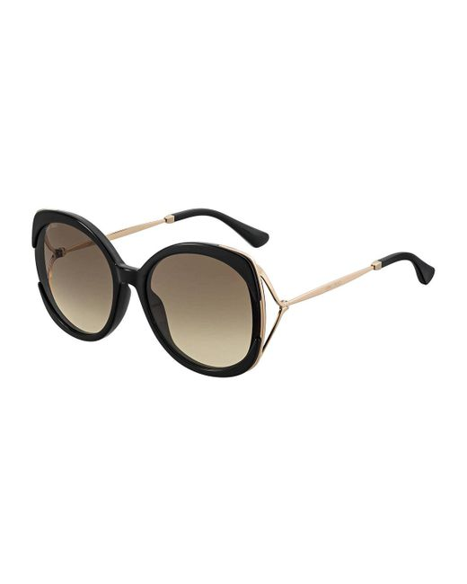 Jimmy Choo - Brown Lilas Square Gradient Open-temple Sunglasses - Lyst