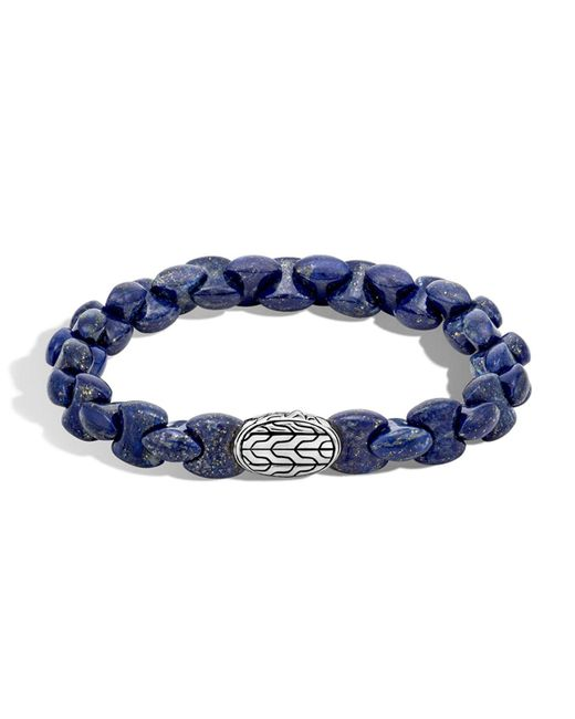 John Hardy - Blue Sterling Silver Classic Chain Lapis Lazuli Bead Bracelet for Men - Lyst