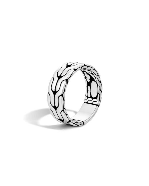 John Hardy - Metallic Sterling Silver Classic Chain Band Ring for Men - Lyst