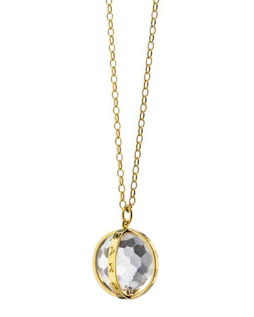Monica Rich Kosann - Metallic Extra Large 18k Gold Carpe Diem Pendant Necklace - Lyst