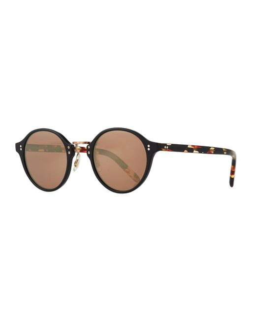 Oliver Peoples - Brown 30th Anniversary Round Sunglasses - Lyst