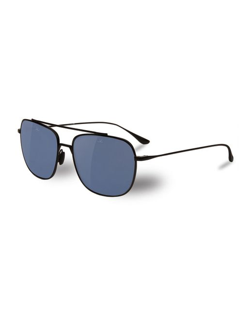 Vuarnet | Black Swing Titanium Rectangular Aviator Polarized Sunglasses | Lyst