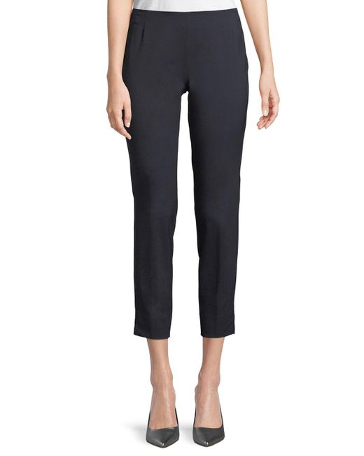 Lafayette 148 New York - Blue Stanton Straight-leg Ankle Pants - Lyst