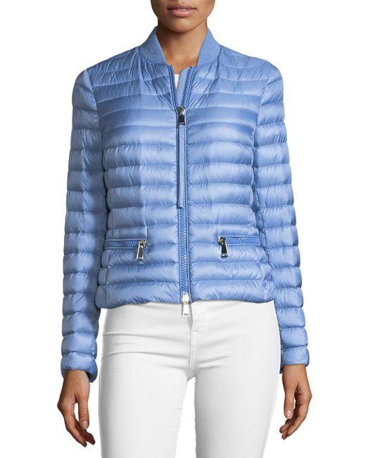 Moncler - Blue Blen Fitted Down Jacket - Lyst