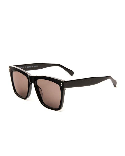 Illesteva - Black Square Monochromatic Sunglasses - Lyst