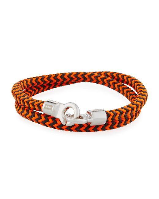 Brace Humanity - Orange Men's Double Tour Braided Wrap Bracelet for Men - Lyst