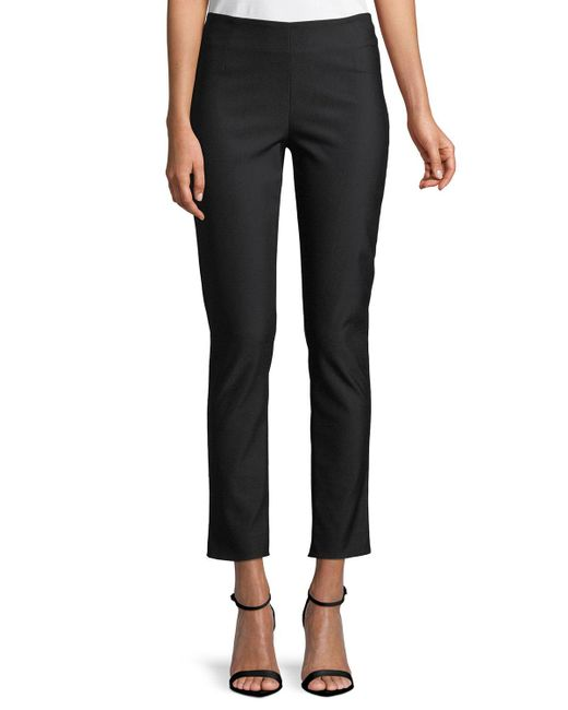Lela Rose - Black Catherine Slim-leg Ankle Pants - Lyst