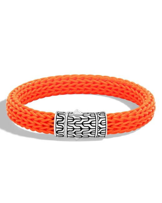 John Hardy - Orange Men's Classic Chain Rubber Push-clasp Bracelet for Men - Lyst